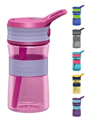 boddels Trinkflasche EEN 400ml - Deine Kindertrinkflasche für jeden Schultag (Lavendelblau/Pink)