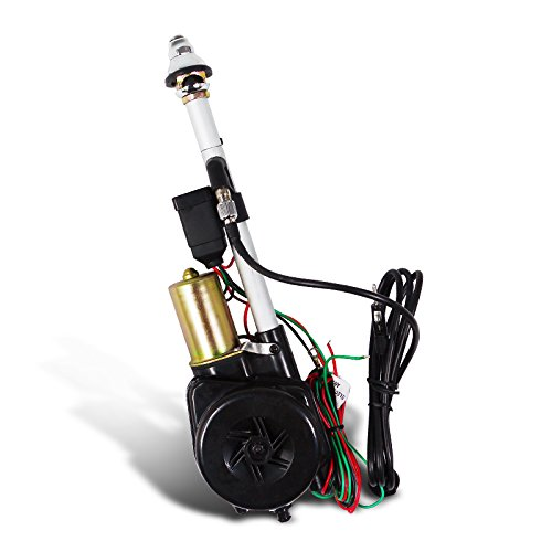 Spec-D Tuning ANT-105A 12V Power Am Fm Radio Antenna Mast Replacement Kit, Wiring, Cable
