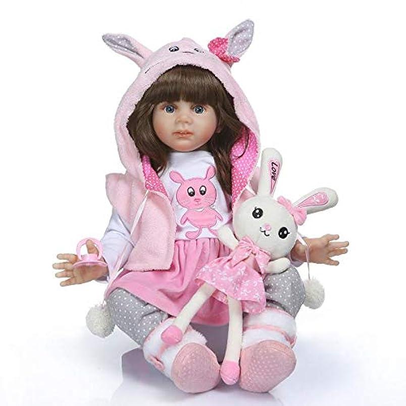 好意的予防接種裸NPK コレクション 24インチ 可愛らしいリボーンドール 幼児 人形 プリンセス 女の子 ロングヘア バレンタイン リアルライフ ベビードール ソフト抱き人形 ピンクの猫の服セット