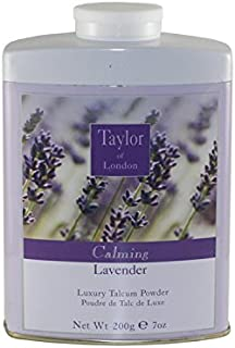 Taylor Of London Lavender Luxury Talcum Powder for Women, 7 Ounce