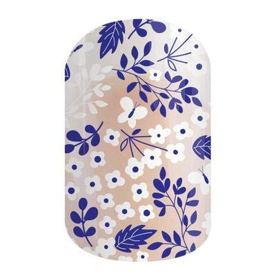 Sweet Surroundings - Jamberry Nail Wraps - Half Sheet - Purple & White Floral on Clear