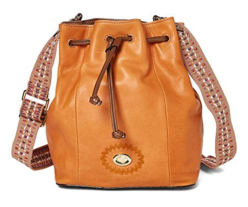 Tignanello Milan Drawstring Cross Body W/RFID Protection, Terracotta/Cognac