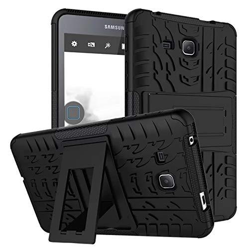 XITODA Samsung Tab A 7.0 Carcasa,Funda para Galaxy Tab A6 7 Hybrid Armor Cover Tough Carcasa Case para Samsung Galaxy Tab A 7.0 Pulgadas 2016 SM-T280/T285 Funda Protección con Kickstand - Negro