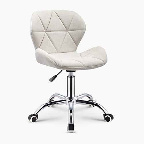 Verstelbare hoogte stoel met wielen voor werk, bar, eettafel, enz Europese stijl Large Kleur: wit