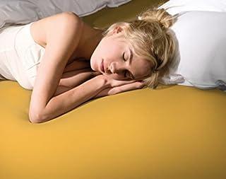 Bella Donna la Piccola 100/jaune 210–formesse Drap-Housse en Jersey pour surmatelas de Les Lits, Hauteur 10 cm