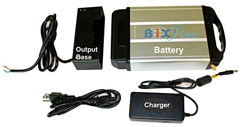 BiXPower 24V 12Ah (288 Watt-Hour) High Capacity Light Weight Lithium Ion Electric Bicycle E-Bike Battery Pack -BiXPower BX2493H