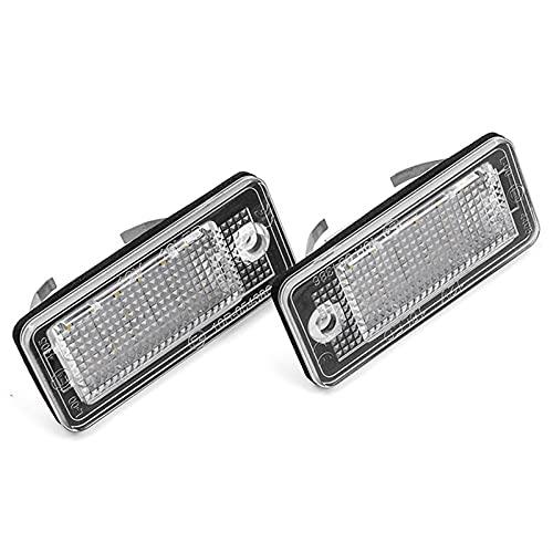 PINGGUO BOOY-Store CANBUS LED Licenciatura Número de Luz Lámpara Lámpara Fit para Audi A3 A4 S4 RS4 B6 B7 A6 RS6 S6 C6 A5 S5 2D Cabrio Q7 A8 S8 RS4 Avant