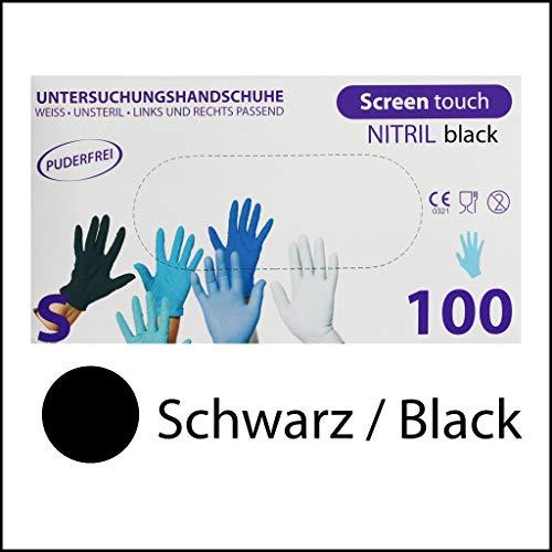 color azul Paquete de 200 guantes de nitrilo texturizados 200 sin polvo S