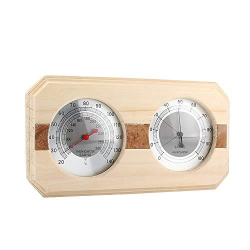 MIFXIN Holz Sauna Hygrothermograph Thermometer Hygrometer Sauna Raumausstattung und Zubehör 10.3 x 5.2 x 1.2 Inch holz