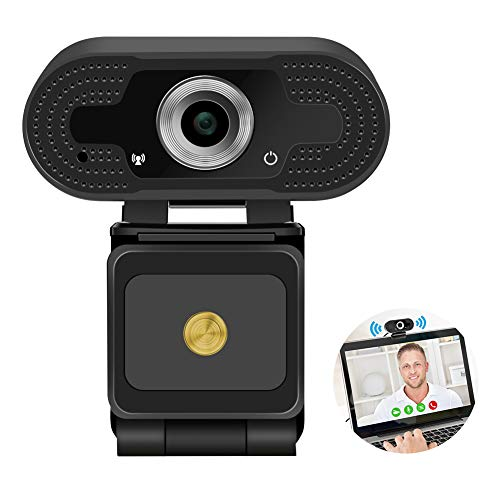 CrazyFire Webcam with Microphone, 1080P HD Computer USB Webcam for Streaming, PC Desktop & Laptop Webcam for Video Calling Conferencing Recording