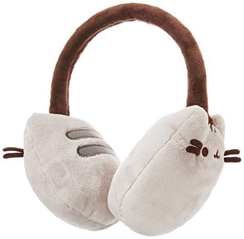 GUND Pusheen Cat Plush Stuffed Animal Earmuffs, Gray, 8'