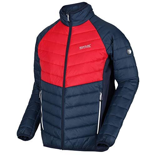 Regatta Halton IV Veste Homme matelassée en laine D'alpaga légère et Stretch Extensible avec traitement Anti-Bactérien Baffled/Quilted Jackets Homme Nightfall/True Red FR: XL (Taille Fabricant: XL)