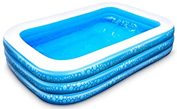 Inflatable Pool Hesung 117  X 69 X 21  Family Swimming Pool for Kids Toddlers Infant Adult Full-Sized Inflatable Blow Up Kiddie Pool for Ages 3+ Outdoor Garden Backyard Summer Swim Center