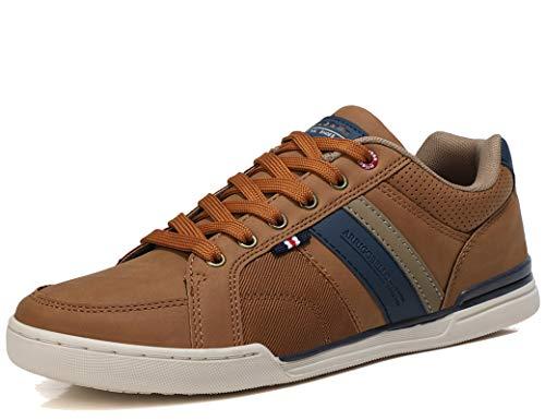 AX BOXING Sneakers Hombre Zapatos Casual Zapatillas Moda Ligero Deporte Gimnasio Running Tamaño 41-46 (Amarrón, Numeric_42)