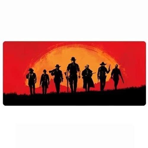 LFLLFLLFL Juego Mouse Pad Red Dead Dead Redemption 2 Teclado Grande Estera 900x400mm Pionero Occidental Van Der Linde Ayudantes Siluetas
