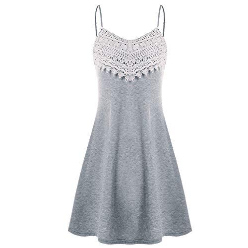 SALEBLOUSE Damen Tops Shirts Blusen Sommer Straps Knited Elegant Boho V-Ausschnitt Große Größe Ärmellos Casual Sexy Mode Oberteile