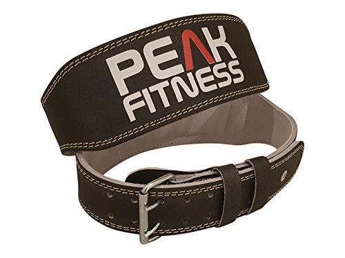 Peak Fitness Cintura di sollevamento in pelle imbottita per le donne e le donne con supporto posteriore per il sollevamento di pesi