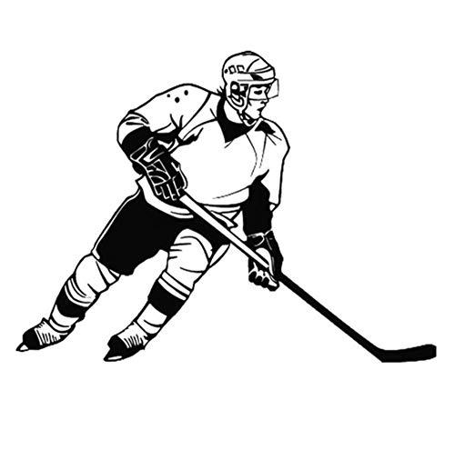 Warmlinan 2 / Pcs Eishockey Sportwagen Fensteraufkleber Schwarz Weiß 13Cm * 9.Cm