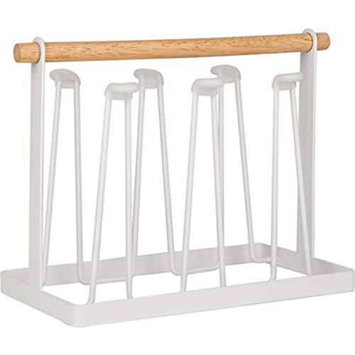Cup Drying Rack Stand, 6 Hook Metal Drain Rack, Quick Drainage, Keeping All The Cups Clean and Dry, Not Easy to Shake Ideal for Holding Glasses, Coffee Cups