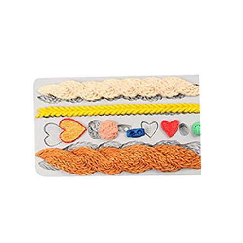 1PC la torta de la decoración del cordón de silicona molde de la torta de chocolate pan de molde del molde (gris), Decoración de Pasteles Bolsa