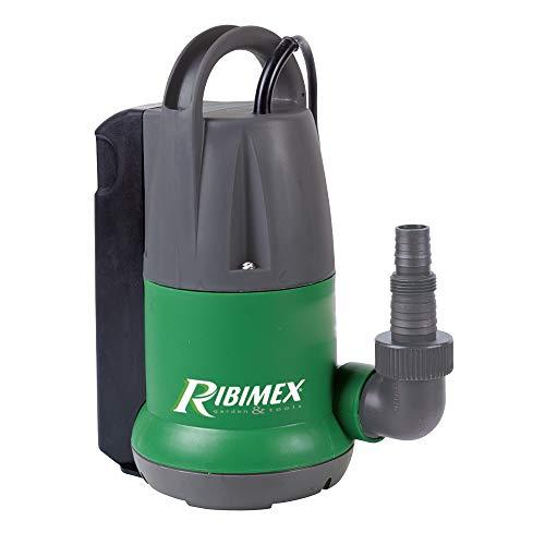 Ribimex PRPVC350A Pompa sommersa acque Chiare 350 W, Verde/Grigio, 400