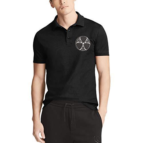 Black Men's Short-Sleeve Collared Polo Shirt Arlen-Ness-Logo- Tees Fashion Tops