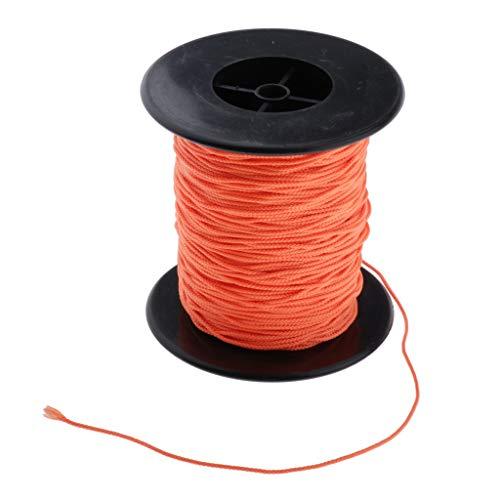 Zubehör Taucherrolle – Fingerspulenschnur – stark und langlebig – 83 m x 2 mm – orange Gummi (Farbe: Orange)