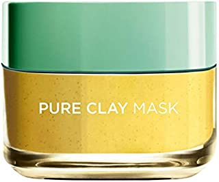 L'Or?al Paris Pure Clay Yellow Face Mask With Yuzu Lemon Cleanses And Evens Skin Tones, 50ml