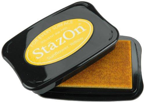 Tsukineko StazOn Tampon encreur Multi-Surfaces Jaune Tournesol