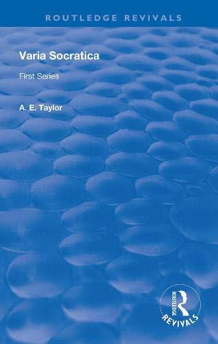 Varia Socratica: First Series (Routledge Revivals)