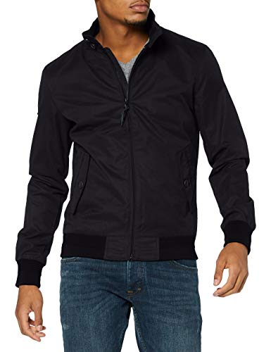 Superdry Iconic Harrington Giacca, Black, Large Uomo