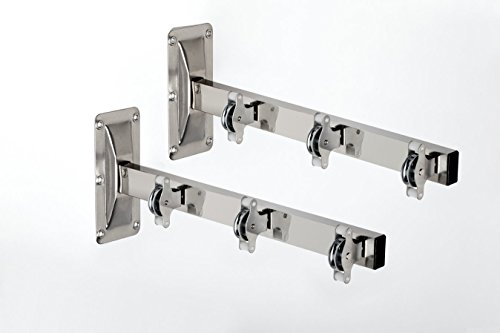 SECATOT TENDEDERO DE PARED CON 3 POLEAS INOXIDABLE