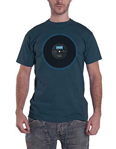 Oasis T Shirt Live Forever Single Nue offiziell Herren Denim Blau