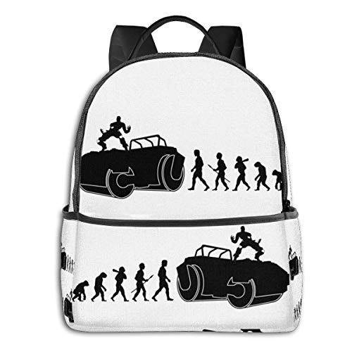 XCNGG Anime Evolution Dio Classic Student School Bag School Cycling Leisure Travel Camping Outdoor Backpack