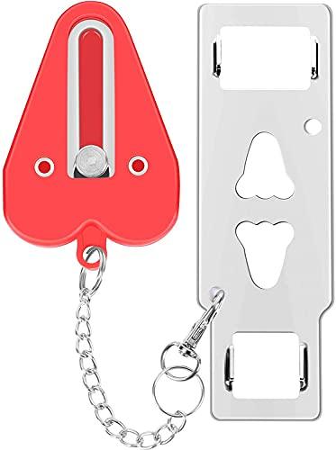 Voarge 1 Piezas Cerradura de Puerta Portátil, Agregar cerradura adicional para mayor seguridad y privacidad, para Escuela Hogar Apartamento Hotel Motel