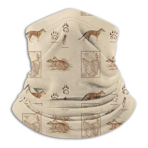 brandless Face Mask Tasmanian Tiger Old Pattern Ski Mask Hat Neck Gaiter Headwear for Women Men
