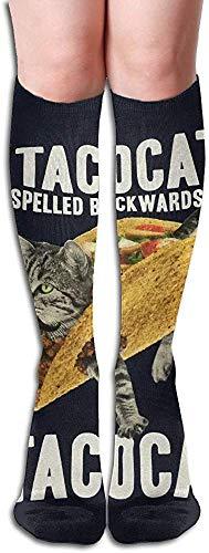 Design Tacocat Unisex Full Socks Lange Socken Kniestrümpfe