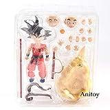 Yvonnezhang SHF SH Figuarts SHFiguarts Dragon Ball Figura Goku Figura de acción Goku y Somersault Cloud Childhood Ver. Goku Toys 12cm, sin Caja