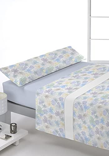 Juego de sábanas Estampado 3/Piezas Modelo: Kiss, Color: 03 Azul, Medida: Cama de 135x190/200cm.