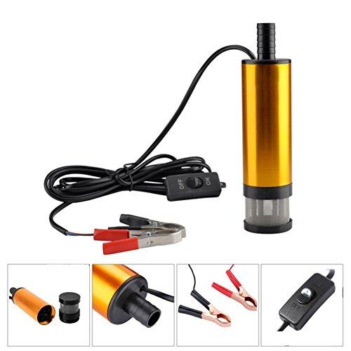 Pompe à huile électrique Kasit 12 V Pompe à essence diesel Pompe de transfert pour huile de transfert 38 mm Or Pompe à huile Pompe à essence