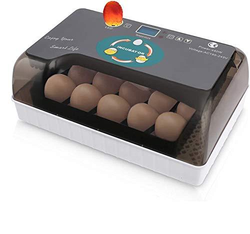Sailnovo Professionelle LED Eier Inkubator Vollautomatisch Brutmaschine,mit Effizienter LED Beleuchtung Feuchtigkeitsfest Energiesparend Kühltechnologie 9-35 Eier