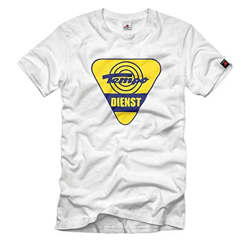 Tempo Dreirad Dienst Schild Hanseat Matador Oldtimer T-Shirt#33183, Größe:Herren XL, Farbe:Weiß