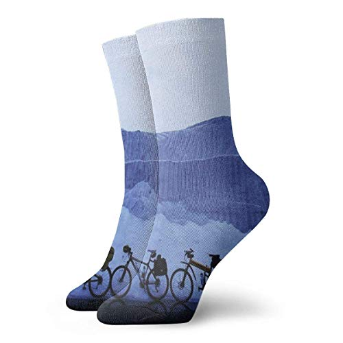 Bike and Mountain Adult Short Socks Cotton Gym Classic Leisure Sport Short Socks Suitable For Men Women Sweat socks Comfortable Breathable Casual Socks 30cm