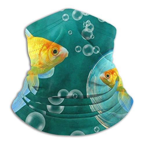 Ewtretr Goldfish Bubbles Winter Fleece Hals Gamasche Halswärmer Gesichtsmaske im Freien