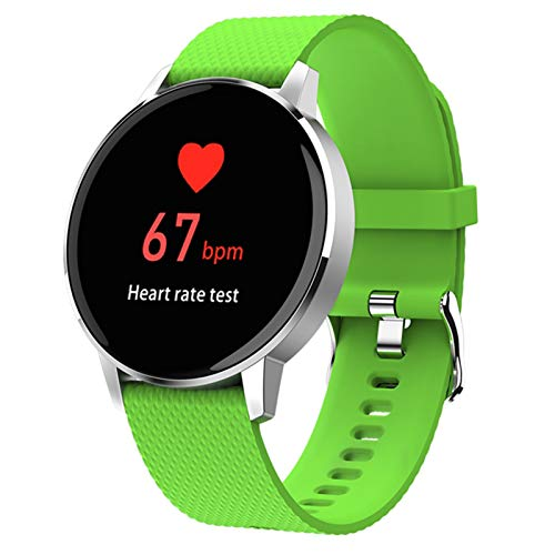 LTLJX Smartwatch,Reloj Inteligente para Mujer con Monitor de Frecuencia Cardíaca,Pulsómetro,Mode Deporte,Pulsera Actividad Inteligente para Android iOS,Verde