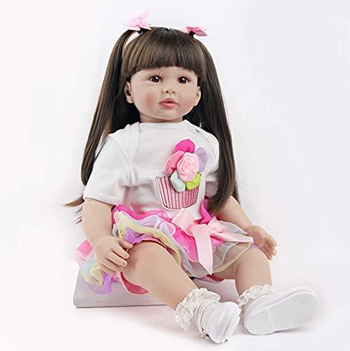 ZIYIUI Reborn Dolls 24 inch 60cm Realistic Soft Silicone Vinyl Reborn Baby Toddler Girl Dolls Real Life Looking Newborn Baby Size Doll