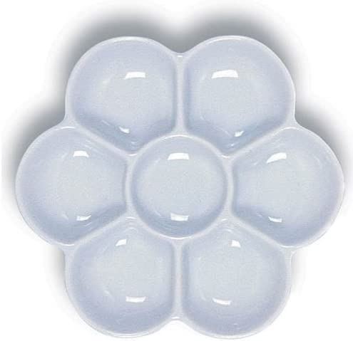 Yasutomo Porcelain 6-Well Floral Palette Ranking integrated 1st place Safety and trust Dish inch Diameter 5