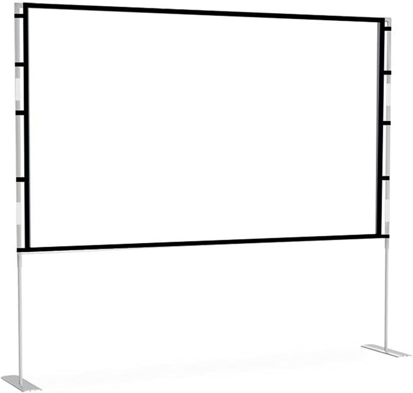 Qgg Foldable Anti-Crease Portable Projection Movies Screen for Home Theater Outdoor Indoor Support Double Sided Projection by Screen Portable Outdoor