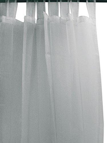 MLANCE Tenda in Voile con Passanti Speciale vetrata 280 x 250 cm IRISE Gris, riflessi Bicolore