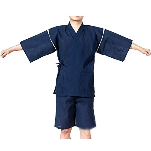 [Größe XL K01] Männer im Japanischen Stil Bademantel Kimono Pyjamas Anzug